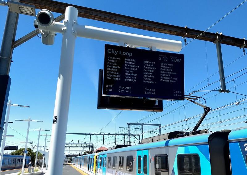 Passenger Information Display on the platform at Frankston