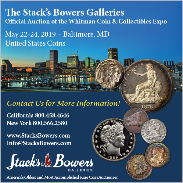 Stacks-Bowers E-Sylum ad 2019-03-24 Whitman Summer