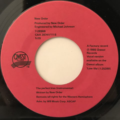 NEW ORDER:PERFECT KISS(LABEL SIDE-B)