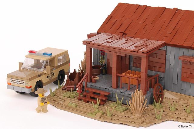 陌生人霍珀警长的小屋+雪佛兰开拓者