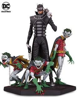令人不寒而慄的恐怖姿態! DC Collectibles《Dark Nights: Metal》大笑蝙蝠俠&羅賓們 The Batman Who Laughs & Robin Minions 全身雕像作品