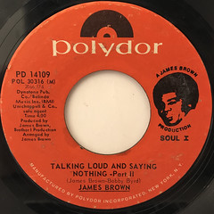 JAMES BROWN:TALKING LOUD AND SAYING NOTHING(LABEL SIDE-B)
