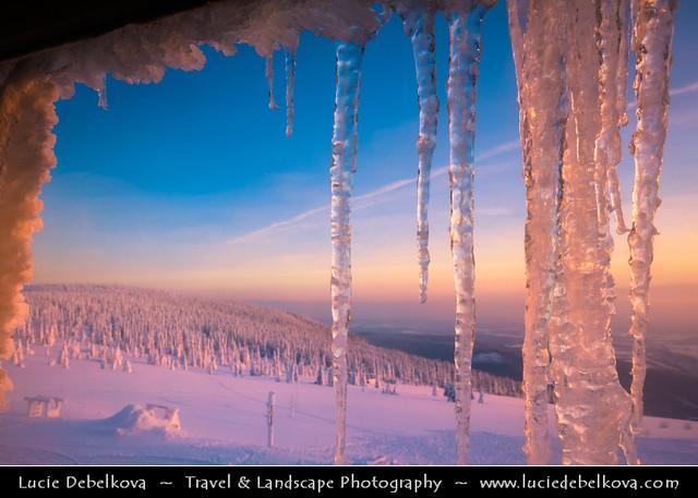 Czech Republic - Krkonoše - Winter Wonderland at Sunset