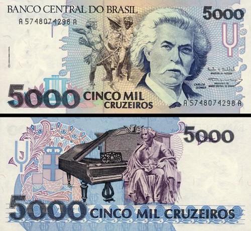 5000 cruzeiros Brazília 1993, P232c