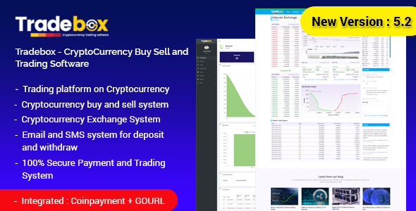 Tradebox v5.3 – CryptoCurrency Buy Sell and Trading Software