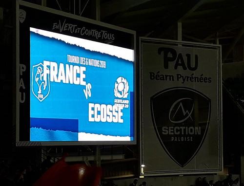 Match France-Ecosse des moins de vingt ans, stade du Hameau, Pau, Béarn, Pyrénées Atlantiques, Nouvelle-Aquitaine, France.