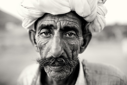 India, camel herder in Pushkar