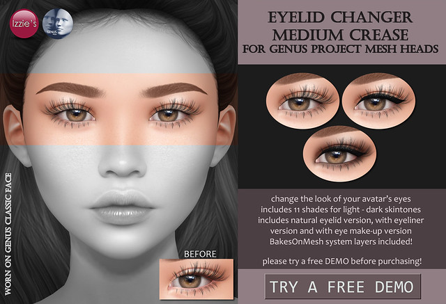 Genus Eyelid Changer medium crease (Uber)