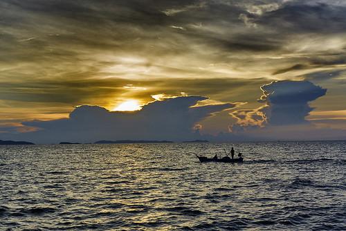 Late fishing