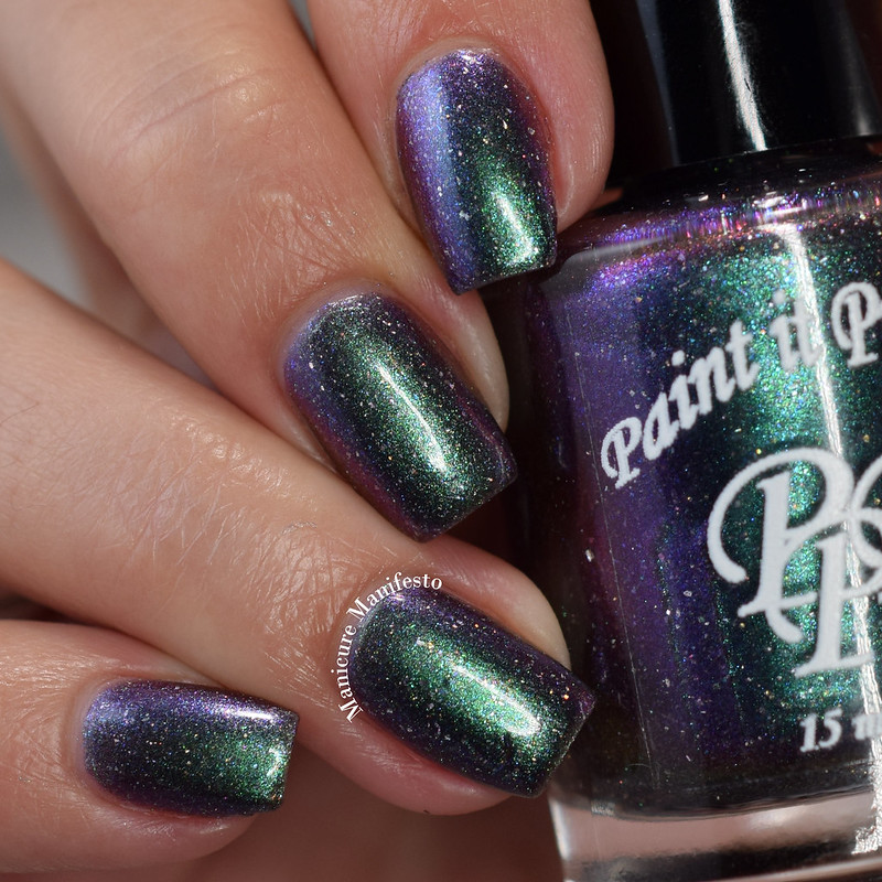 Paint It Pretty Polish Cosmic Showers Bring Space Flowers