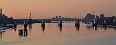 The Thames Barrier at dawn. Nikon 3100. DSC_0507.