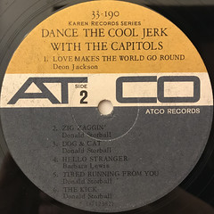 THE CAPITOLS:DANCE THE COOL JERK WITH THE CAPITOLS(LABEL SIDE-B)