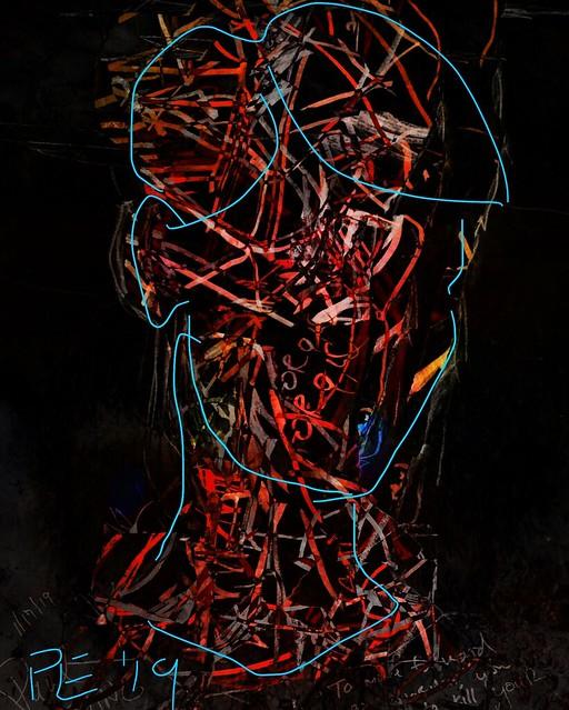 """Portrait of the Degenerate Artist"" --after Oskar Kokoschka's famous self portrait"