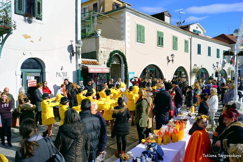 Улица Негошева во время проведения фестиваля