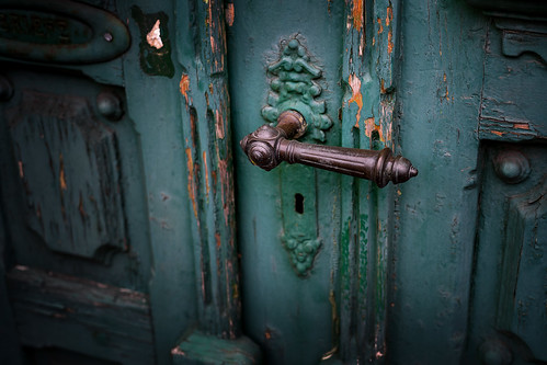The old entrance door