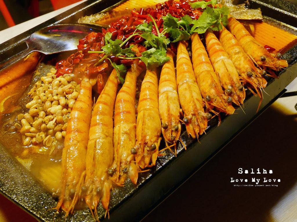 台北水貨炭火烤魚小巨蛋店火鍋餐廳好吃ig打卡推薦超厲害海鮮蝦子火鍋 (1)