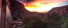 Starlight- Verde Canyon Railroad, setting sun- Angela Aldatz photo