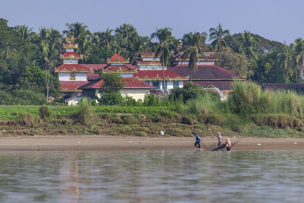 Temple at the river - Saluen river