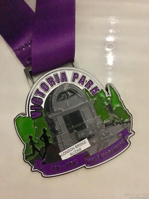RunThrough Victoria Park Half Marathon finishers medal