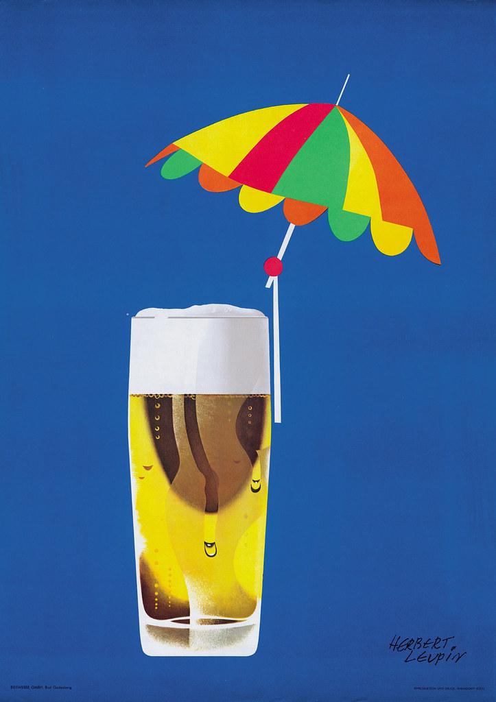 Bier mit Sonnenschirm