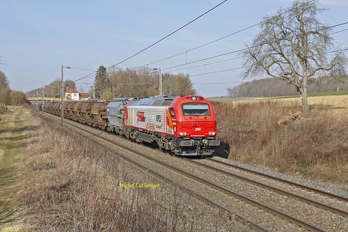 Euro 4045 VFLI Train 60905 Uochy Breny-Bantzenheim à Carspach
