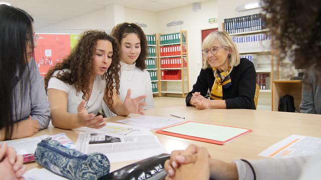 Déplacement de la rectrice au lycée Simone Weil dans le cadre de la Semaine d'éducation et d'actions  contre le racisme et l'antisémitisme