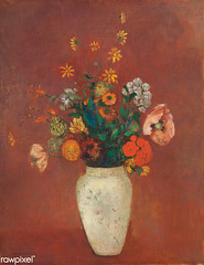 Bouquet in a Chinese Vase by Odilon Redon