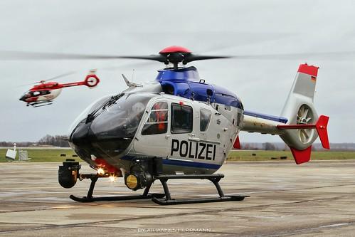 Polizei Sachsen EC135 D-HSNC @ Bautzen