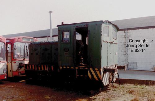 BE-3630 Maasmechelen Armand Lowie Unbekannte Diesellok und Busse der Kreiswerke Heinsberg im März  1991