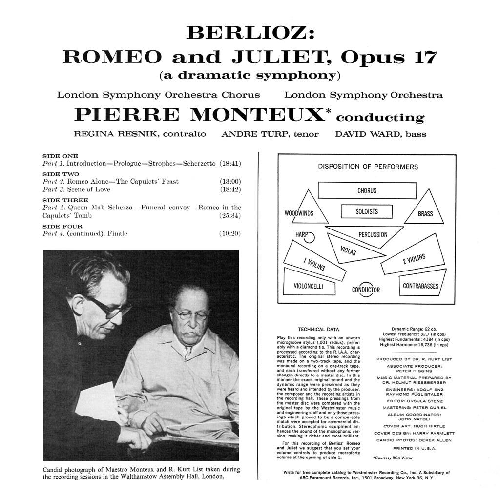 Pierre Monteux, Hector Berlioz - Romeo and Juliet b