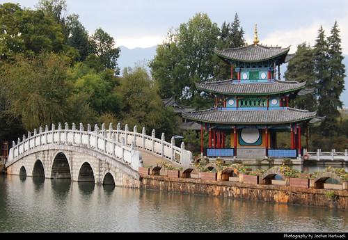 Moon-Embracing Pavilion, Black Dragon Pool, Lijiang, Yunnan, China
