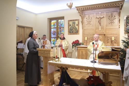 Poświęcenie kaplicy w Domu Sióstr Urszulanek w Zakopanem na Jaszczurówce   Abp Marek Jędraszewski, 25.12.2018