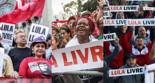 Atos por Lula Livre irão ocupar as ruas de todo país - Créditos: Colagem/Reprodução