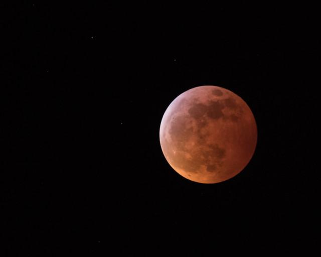 Total Lunar Eclipse (in reverse)