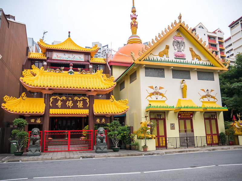 Temples, Indian district, Singapore