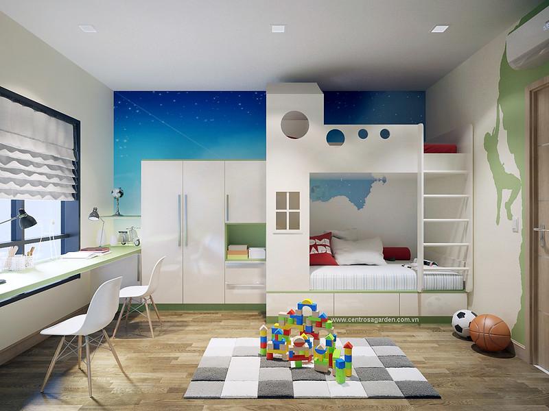 Phòng Baby dễ thương với đồ chơi
