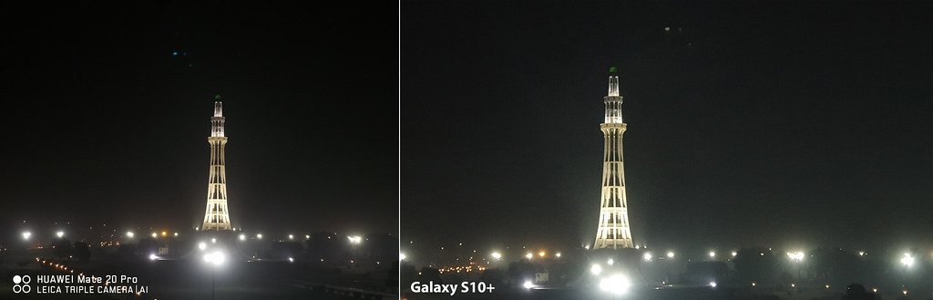 Mate 20 vs Galaxy S10+: Shot of Minera-e-Pakistan with Wide Angle lens