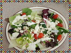 Yummy Frisch's Big Boy Salad with Fresh Bleu Cheese