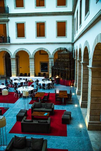 Dining in the Courtyard at the Pousada de Viseu