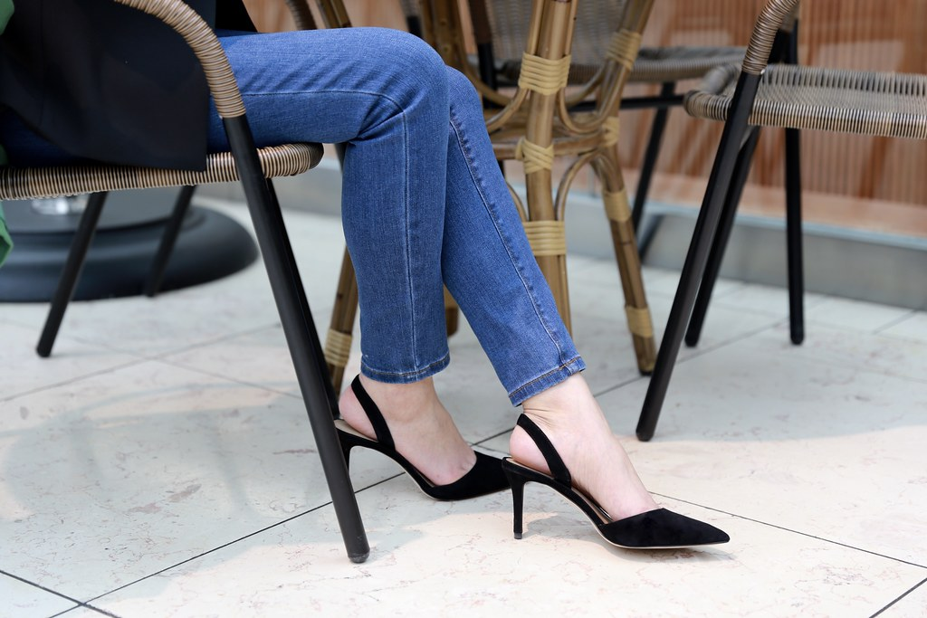 Kerry Suede Slingback Pumps