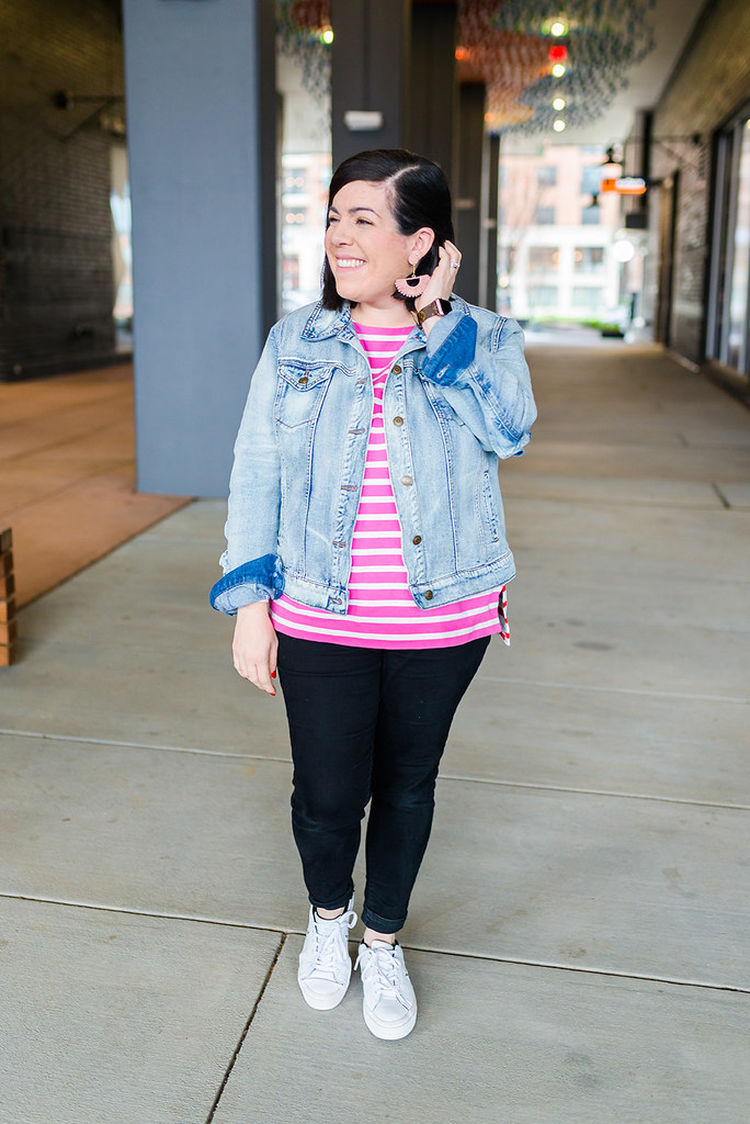 Pink and Red Stripes-@headtotoechic-Head to Toe Chic