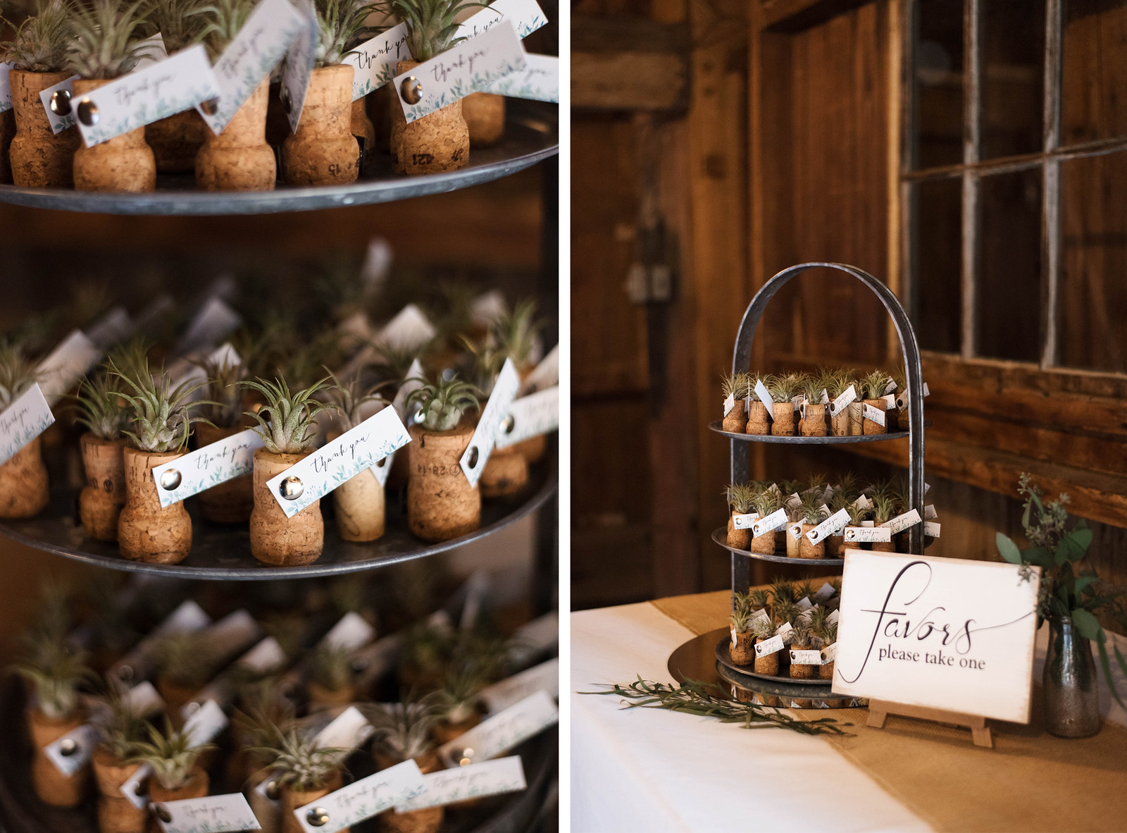 air-plant-wine-cork-wedding-favors-boho