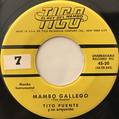 TITO PUENTE Y SU ORQUESTA:MAMBO GALLEGO(LABEL SIDE-A)