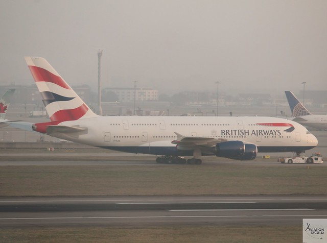 British Airways A380-861 G-XLEE, Canon EOS 1200D, Canon EF-S 55-250mm f/4-5.6 IS STM