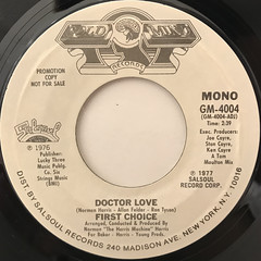 FIRST CHOICE:DOCTOR LOVE(LABEL SIDE-B)