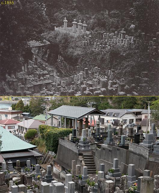 玉泉寺墓地今昔 Graves of American Sailors at Shimoda c1855 & 2018