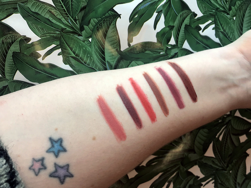 Lipstick palette product review swatches