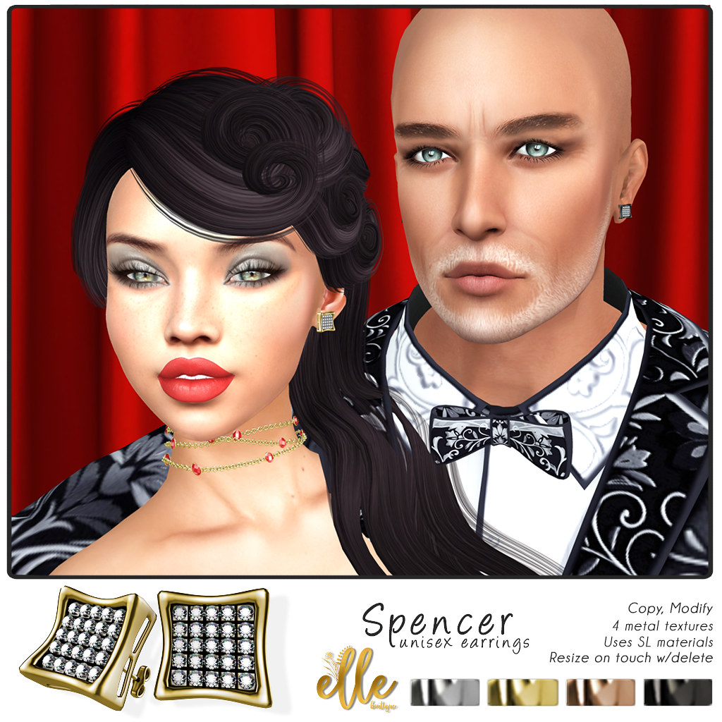 """Spencer Earrings"" by Elle Boutique -  MadPea Premium Alliance Hunt: The Golden Pea Awards! - TeleportHub.com Live!"