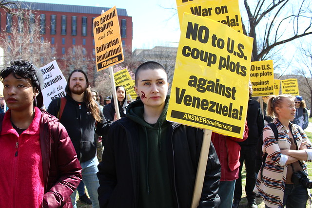 US Hands Off Venezuela DC Protest and Rally at Lafayette Park, Washington DC on 16 March 2019