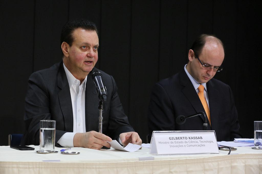 02/10/2018. Brasília-DF. Ministro Gilberto Kassabparticipa de cerimônia de lançamento da Ação de Fomento à Inovação em Educação – Finep Educação. Foto: Ricardo Fonseca/MCTIC.